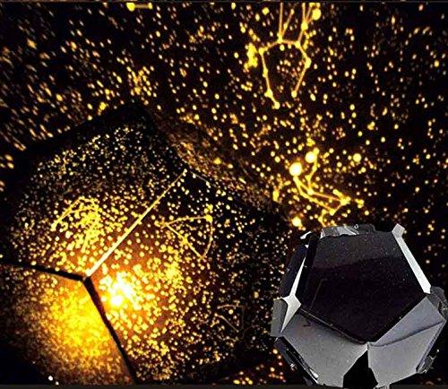Upxiang Celestial Stern Lampe, sternlampe kinderzimmer, Cosmos Nachttischlampe, sternen Lampe, Projektor Sternenhimmel Schlafzimmer Romantische Dekorative (schwarz)