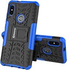 Bracevor Shockproof Xiaomi Redmi Note 5 Pro Hybrid Kickstand Back Case Defender Cover - Blue