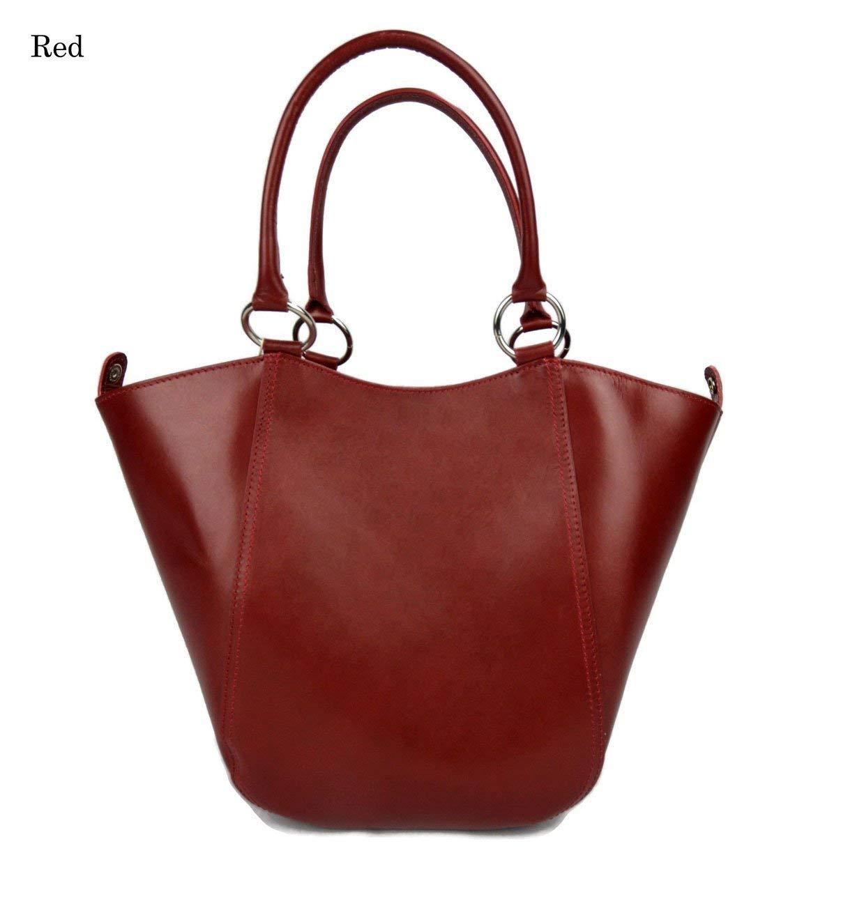 Handbag red leather women leather bag foldable purse leather women ladies crossbody leather bag women satchel tote handbag shopper - handmade-bags