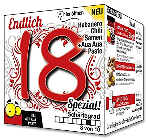 Endlich 18 SPEZIAL - Eine tolle Geschenkidee zum 18. Geburtstag - ein witziges und originelles Geschenk für scharfe Männer und Frauen