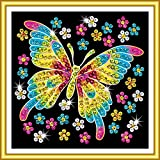 Mammut 8141325 - Sequin Art 60-Schmetterling, ca. 20 x 20 cm