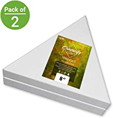 Canvasify Medium Grain Stretched Triangle Canvas 8'' (Pack of 2)