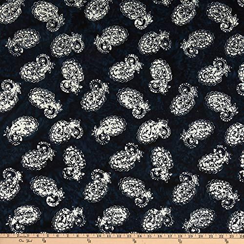 Anthology Batiks Anthology Fabrics Number 20 1950 Art Inspired Batik Paisley Ink Stoff, Textil, by The Yard -
