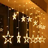Woogor Star Curtain LED Lights for Decoration, Diwali, Christma,s Wedding - 2.5 Meter (1 Curtain) Diwali Lights…
