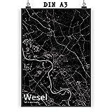 Mr. & Mrs. Panda Poster DIN A3 Stadt Wesel Stadt Black -