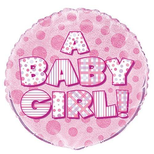Unique Party Supplies 45,7cm Folie Prism Pink Girl Baby Dusche Ballon
