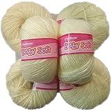 VARDHMAN Yarn Baby Soft Wool for Hand Knitting, Fingering (150 GMS, Light Lemon Shade)