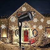 4W LED wasserdichter beweglicher Schneeflocke-Scheinwerfer, LED-Weihnachtslicht, dynamische Landschaftsprojektor-Licht-Lampe, Partei-Licht für Feiertag, Garten, Haus Innen- / im Freiendekor und Spaß-Spielwaren für Kinder