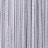 Fadenvorhang Tür Vorhang Gardine Schal Faden Türvorhang Fadengardine in 2 Größen (Weiss, 140cm x 250cm)