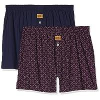 DIM Men's 100% Cotton Boxers (pack of 2) in Multicolour, Size: M