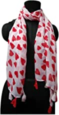 lifeu Red Dil Print Stole