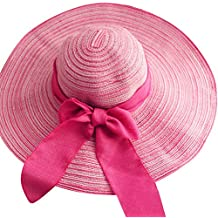 Moollyfox Elegancia Sombreros de Paja de Sol Gorra de Playa para Mujer ala  Ancha Sombrero de 23094df0763