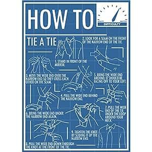 Comment un nœud de cravate Tie Poster Print (format A4)