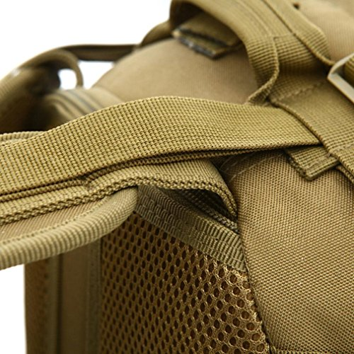 F@Nylon impermeabile 60L litro sport outdoor Zaini, zaino tattico militare appassionati, che viaggiano zaino di caccia, Digital Camo , jungle number Black