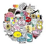 Aufkleber-Satz 35pcs einzigartige Aufkleber für Gitarre imprägniern Buch-Pasten-Telefon-Notizbuch-Karikatur-Aufkleber-Satz für Erwachsene, Kinder, *******ager, Mädchen, Jungen (Type B)