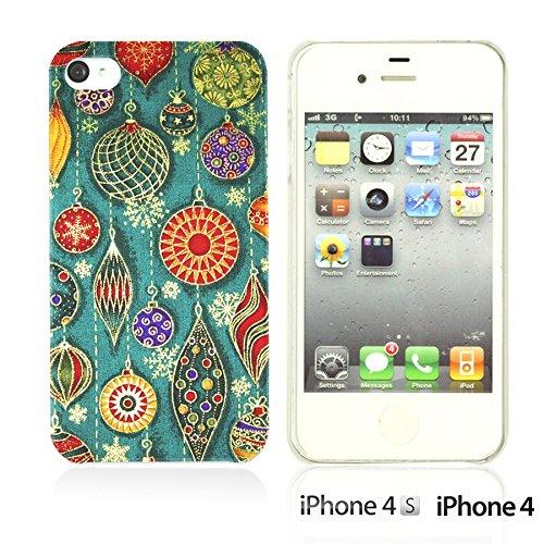 OBiDi - National Pattern Hardback Case / Housse pour Apple iPhone 4S / Apple iPhone 4 - Colorful Elephant ArtWork Cute Earrings Illustration