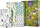 A5 Week-to-View Diary with Recipes, Pocket & Stickers Plus Pocket Diary, Pen, Noteboo...