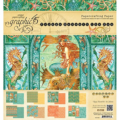 For Sale Graphic 45 Graphic 45 Double-Sided Paper Pad 8-inch x 8-inch 2-Voyage Beneath The Sea, 3ea Of 8 Designs on Line