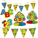 Folat Set di 53Set di decorazioni * Scuola Inizio * per una festa per la scuola/decorazione/Ghirlanda con bandierine + + tavolo + Coriandoli + PALLONCINI//Scuola primo Schultag giovane ragazza