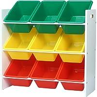WOLTU SPK007 Étagère de Rangement pour Enfants avec 9 boîtes,étagère à Jouets boîtes de Jouet pour Chambre d'enfant…