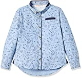 RED WAGON Boy's Conversational Shirt, Blue, 8 Years
