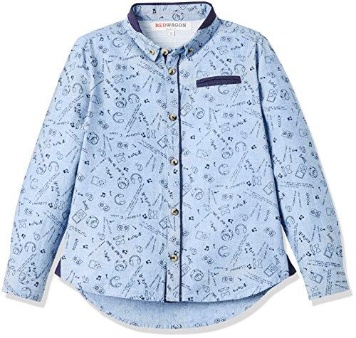 RED WAGON Conversational Shirt  camisa Niños Azul Blue 4 años