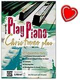 play piano christmas plus livre de chansons de no?l margret feils pour tous les ans toujours avec coeur note color?e pince