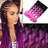 Golden Rule Fashion 3 tono ombre treccia capelli 61 cm Xpression treccia capelli