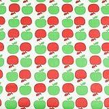 Tolles Wachstuch mit grünen und roten Äpfeln
