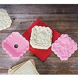 ASAB Kunststoff Sandwich Brot Stempel Drücken Toast Schablone Persönliche Nachricht Impressum Cutter Mould Küche Tool Kit rose