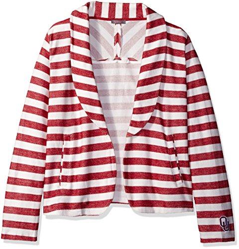 UG Apparel NCAA Damen Fleece-Blazer Kentucky Wildcats, Damen, Crimson/Cream, 1X Plus Damen Crimson Cream