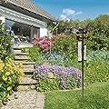 Relaxdays Wetterstation analog, Thermometer, Regenmesser, Windmesser, Garten & Balkon, HxBxT: 145 x 24 x 24 cm, schwarz von Relaxdays - Du und dein Garten