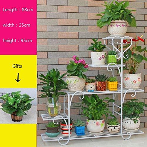 Schöner Blumenstand der Persönlichkeit- Multi-Boden-Innenblumen-Stand-Balkon-Gestell-Schmiedeeisen-Boden-Stand-zusammengebauter Blumen-Stand frisch und elegant -Starke Tragfähigkeit (Schmiedeeisen-gestell)