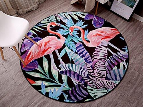 SESO UK- Alfombrilla de la silla de los niños creativa de la historieta, alfombra redonda antideslizante para la sala de estar del dormitorio ( Color : #4 , Tamaño : 100cm )