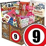 Geschenkset Jubiläum | Süßigkeiten Box | DDR Geschenk box | Zahl 9