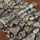 ALLDOLWEGE Die kreative Stein Tapete Retro Kultur Steinfliesen Textur wallpaper Bar, Coffee Shop, Restaurant, Aufkleber, c-drei-dimensionalen Wand