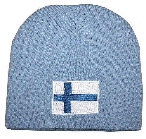 Beanie-Mütze mit Einstickung – Norwegen - 54896 Blau