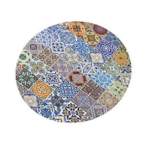 MagiDeal Tischdecke rund waschbar Tischtuch Tischwäsche Tischtücher für Küche, Esszimmer, Hotel,...