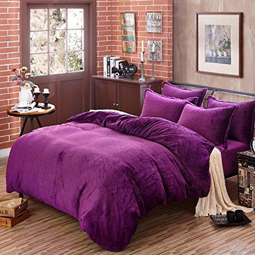 Larry solida e spessa dimensione privato calda flanella (quilt) 1.5 * 2.0 m 2.0 * 2.30m 2.20 * 2.40m , light purple , king