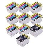 PerfectPrint - 40 PerfectPrint Compatible Tinta Cartucho Reemplazar T1281 T1282 T1283 T1284 Para Epson Stylus S22 SX125 SX130 SX420W SX425W SX445W BX305F BX305FW SX230 SX235W SX445W SX435W SX430W SX438W SX440W Impresoras
