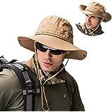 GUSTAVE Fishing Hat Summer Sun Bonnie Hat UPF 50+ UV Protection Wide Brim Cap Waterproof Safari Adventure Camping Hiking Hunting Travel Beach Bucket Hat for Men Women Boys and Girls