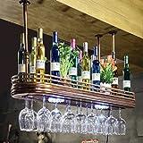 Weinregal TH Bar Massivholz Wohnzimmer Weinglas Rack Hängende Retro Rotwein Display (größe : 80cm)