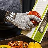[Schnittschutzhandschuhe] FREETOO Hochleistung Schnittschutz Handschuhe Leicht 5 Handschutz Ebene, lebensmittelecht schnittfeste Handschuhe M - 6