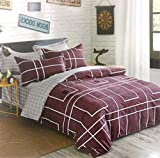 #8: TOGETHER Hi-LIFE Cotton Purpal Kingsize Double Bedsheet