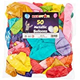 """REDSTAR FANCY DRESS 50 LARGE 12"""" METALLIC BALLOONS PARTY BAG FILLERS GOODS CHILDRENS LOOT BAGS TOYS"""