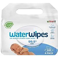 WaterWipes Salviette Umidificate, Salviette Neonato per Pelli Delicate, 99.9% di Acqua Purificata, Biodegradabile, 60…