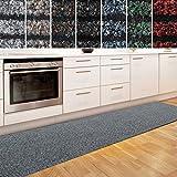 casa pura Küchenläufer Granada in großer Auswahl | strapazierfähiger Teppich Läufer für Küche Flur UVM. | Rutschfester Teppichläufer/Flurläufer für alle Böden (80x150 cm Grau)