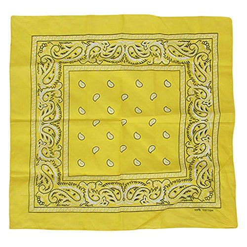 Paisley Bandana Foulard Tête Wrap Coverchief - Jaune