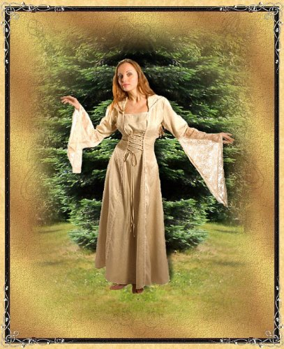 Bäres Mittelalter Brautkleid - Damen Isafold Natur