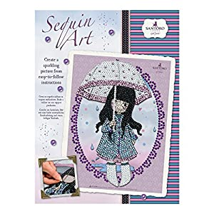 Sequin Art- Kit de Bricolaje para Niños, Puddles of Love, CREA Bello Arte Colorido con Lentejuelas, (5013-1715)